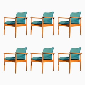Diplomat Armchairs by Finn Juhl for France & Søn, 1960s, Set of 6