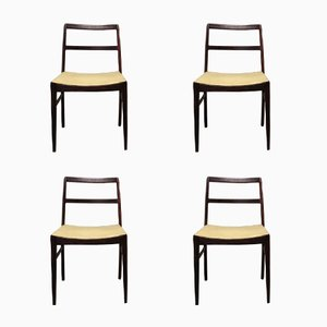 Mid-Century Danish 430 Rio Palisander Dining Chairs by Arne Vodder for Sibast, 1960s, Set of 4