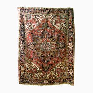 Antique Persian Geometric Design Heriz Carpet