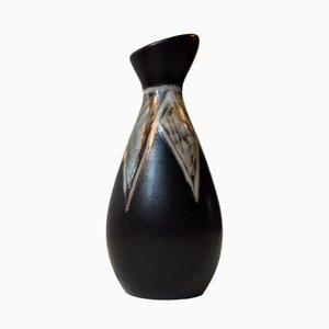Dänische Moderne Burgundia Keramik Vase von Svend Aage Holm-Sørensen für Søholm, 1950er