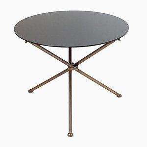 Tavolino tripode nero in ottone, Francia, anni '50