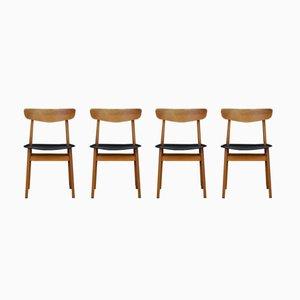 Dänische Esszimmerstühle aus Teakholz, 1970er, 4er Set
