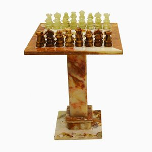 Vintage Italian Alabaster & Marble Chess Set