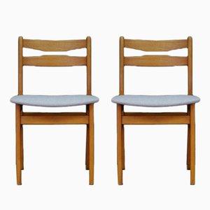 Dänische Vintage Stühle mit Furnier aus Teakholz, 2er Set