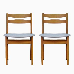 Vintage Danish Teak Veneer Chairs, Set of 2