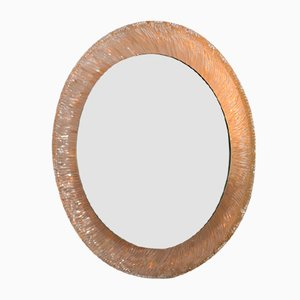 Vintage Illuminating Sunburst Round Mirror from Hillebrand