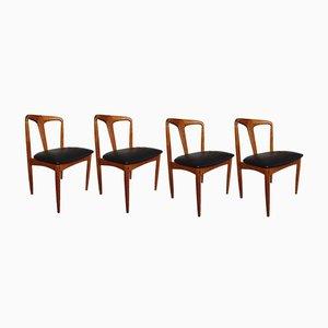 Juliane Esszimmerstühle aus Teakholz von Johannes Andersen für Uldum Møbelfabrik, 1960er, 4er Set