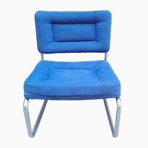 Blauer vintage Sessel