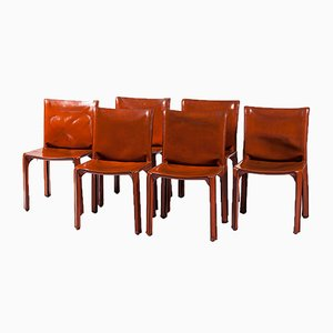 Cab Chairs by Mario Bellini for Cassina, 1970s, Set of 6