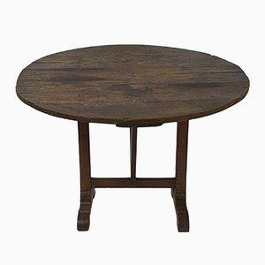 Antiker Weinproben Tisch in Dunkelbraun