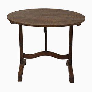 Antiker Weinproben Tisch in Hellbraun