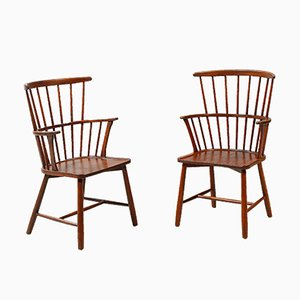 Vintage Windsor Chairs, 1920s, Set of 2