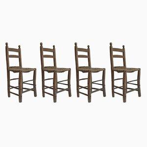 Antike Stühle mit Leiterrücken, 1850er, 4er Set