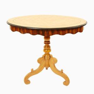 Tavolino ovale antico impiallacciato
