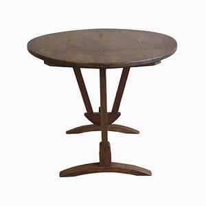 Antiker Weinproben Tisch aus Eichenholz