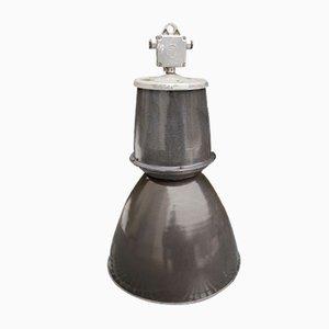 Lampada grande vintage industriale smaltata, Repubblica Ceca