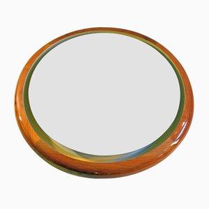 Vintage Italian Backlit Mirror, 1970s