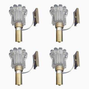 Wandlampen von Gaetano Sciolari, 1970er, Set of 4