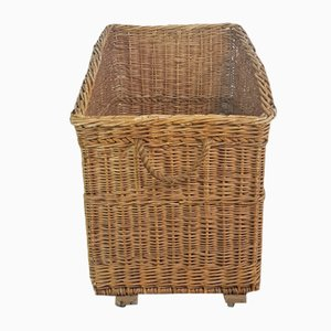 Vintage Industrial Wicker Trolley
