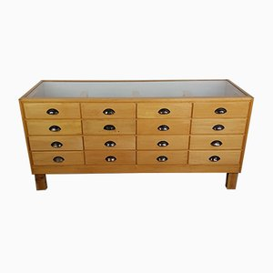 Vintage 16 Drawer Shop Counter