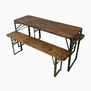 Vintage German Beer Table & Benches