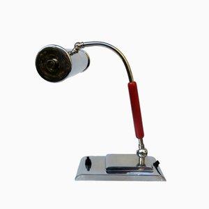 Lámpara de mesa o de piano austríaca vintage de metal cromado