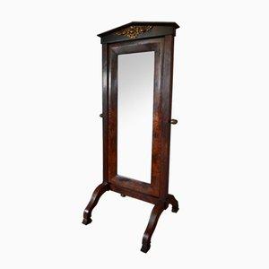 Antiker Französischer Spiegel aus Mahagoni
