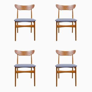 Vintage Teak Dining Chairs from Schiønning & Elgaard, Set of 4