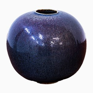 Round Vase by Stig Lindberg for Gustavsberg, 1973