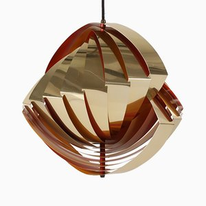 Lampada da soffitto Konkylie vintage di Louis Weisdorf e per Lyfa, anni '60