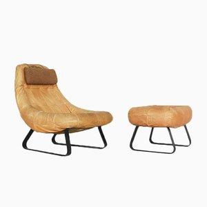 Brasilianischer Earth Chair und Ottomane von Percival Lafer für Lafer MP, 1970er