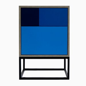 Table d'Appoint Real Bleue par Studio Deusdara