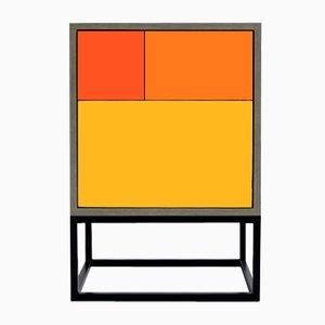 Tavolino Real arancione di Studio Deusdara