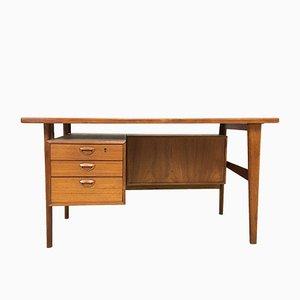 Mid-Century Schreibtisch aus Teakholz von Kai Kristiansen für FM Mobler