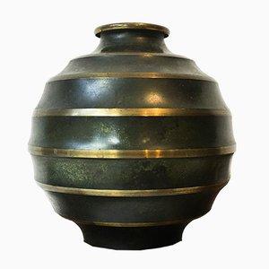 Art Déco Vase aus Bronze von Svenska Metallverken
