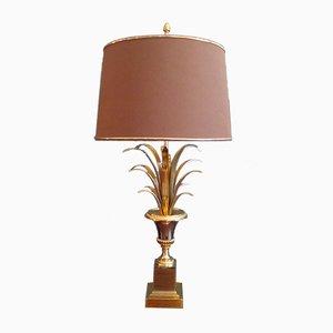 Französische Tischlampe mit Palmenblatt Verzierung, 1960er