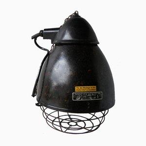 Lámpara industrial vintage de baquelita