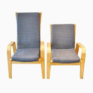 Chaises de salon du milieu du siècle par Cees Braakman pour Pastoe, lot de 2