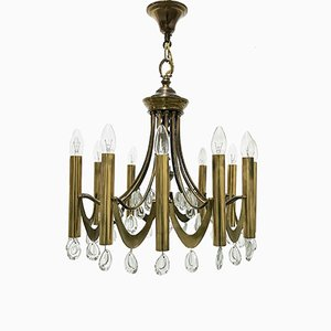 Brass Chandelier by Gaetano Sciolari, 1960s