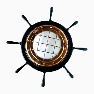 Helm Nautical Italian Wall Lamp, 1960s