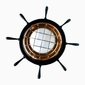 Italienische Helm Wandlampe im Nautischen Stil, 1960er
