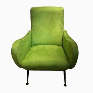 Vintage Green Armchair, 1960s