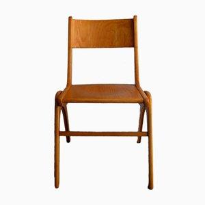 Vintage Stuhl aus Birkenholz mit Boomerang Beinen