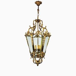 Italian Brass Lantern Pendant, 1900s
