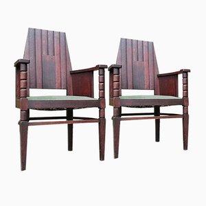 Antike Stühle der Amsterdamer Schule, 1910er, 2er Set