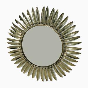 Vintage Sunburst Spiegel aus Messing, 1960er