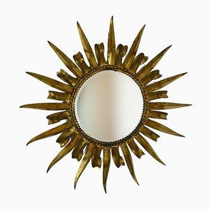 Mid-Century French Sunburst Mirror