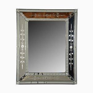 Vintage Spiegel mit Radierungen im Venezianischen Stil