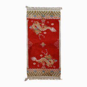 Handgefertigter chinesischer Vintage Teppich, 1970er
