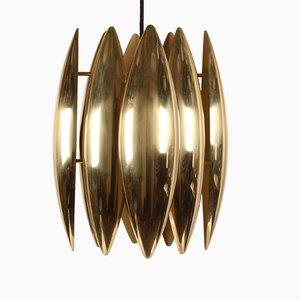 Kastor Brass Ceiling Lamp by Jo Hammerborg for Fog & Mørup, 1960s